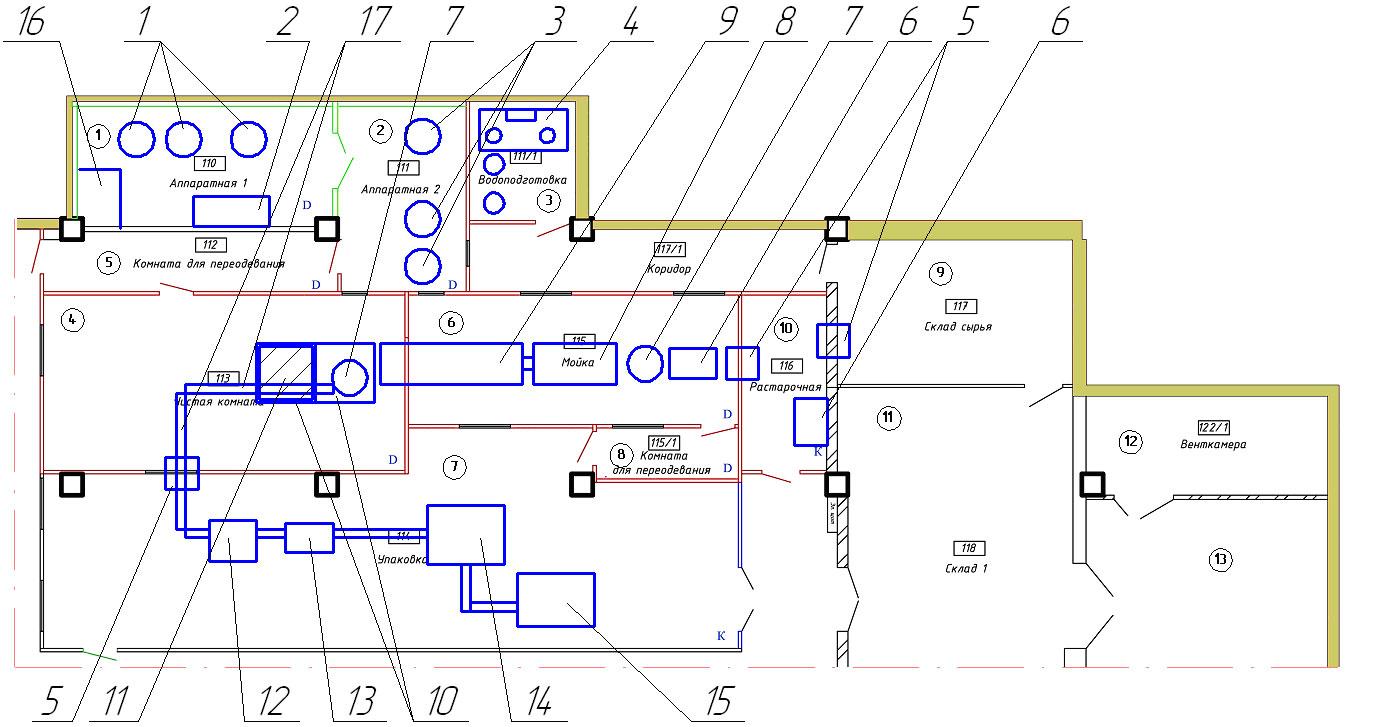 Схема размещения цеха