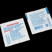 Салфетка прединъекционная дезинфицирующая спиртовая СПДс-ВИПС-МЕД, 70%-ный раствор  этилового с пирта, 60х100 мм, 100шт. в п/э пакете , шт